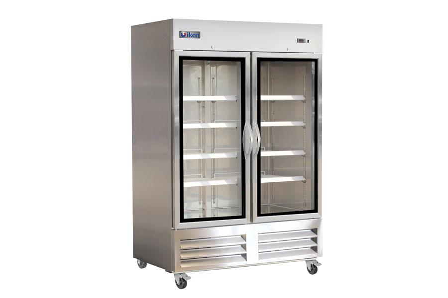 IB54RG Double Glass Door Bottom Mount Refrigerator
